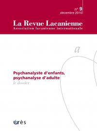 La psychanalyse, pas sans les enfants...