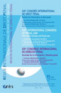 XIXe congrès international de droit pénal