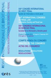 XIXe congrès international de droit pénal1