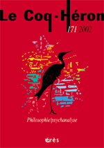 Philosophie / psychanalyse