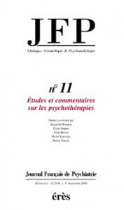 Etudes et commentaires sur les psychothérapies