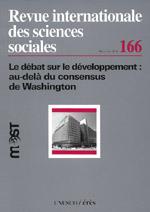 le débat sur le développement : au-delà du Consensus de Washington