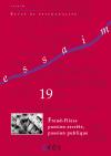 Freud-Fliess, passion secrète, passion publique