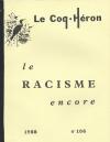 Le racisme encore