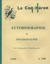 Autobiographie et psychanalyse