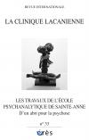 Les travaux de l'école psychanalytique de Sainte-Anne