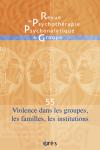 Violence dans les groupes, les familles, les institutions
