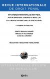 XVIIe congrès international de droit pénal