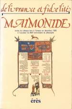 Délivrance et fidélité:Maimonide