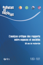 L'analyse critique des rapports entre espaces et sociétés