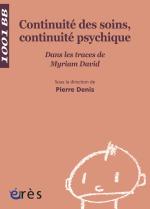 Continuité des soins, continuité psychique - 1001 bb n°113