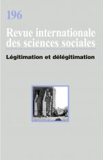 Légitimation et délégitimation