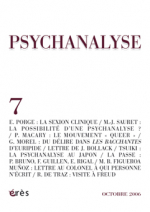 La clinique psychanalytique contemporaine