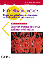 Education physique et sportive et situation de handicap